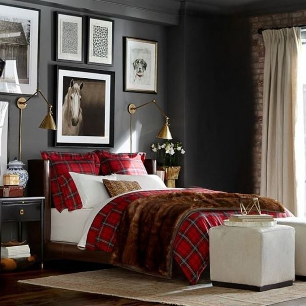 Red And Grey Bedroom 70